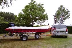 Trailerboot und Camping in Cuijk/ Kraaijenbergse Plassen