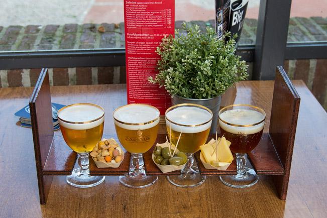Bierprobe mit Snack
