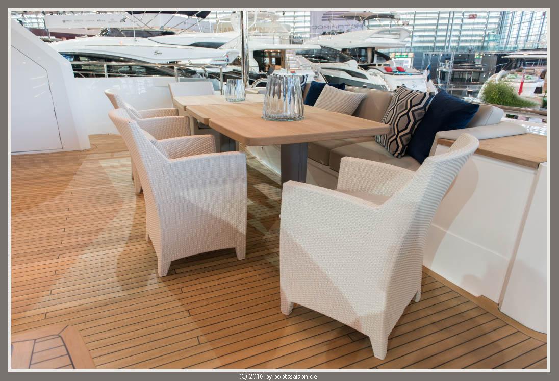 princess yachts Achterdeck