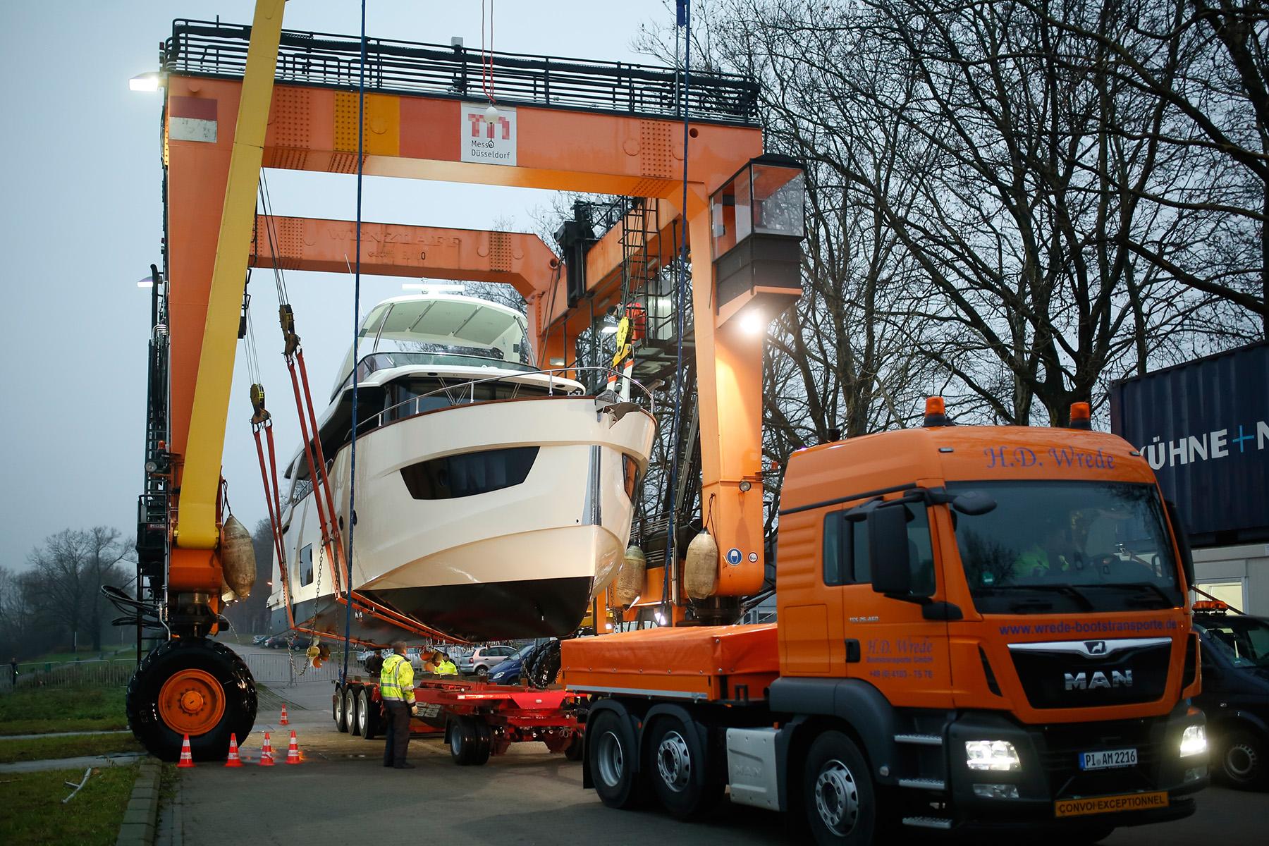 Transport zur Boot 2018