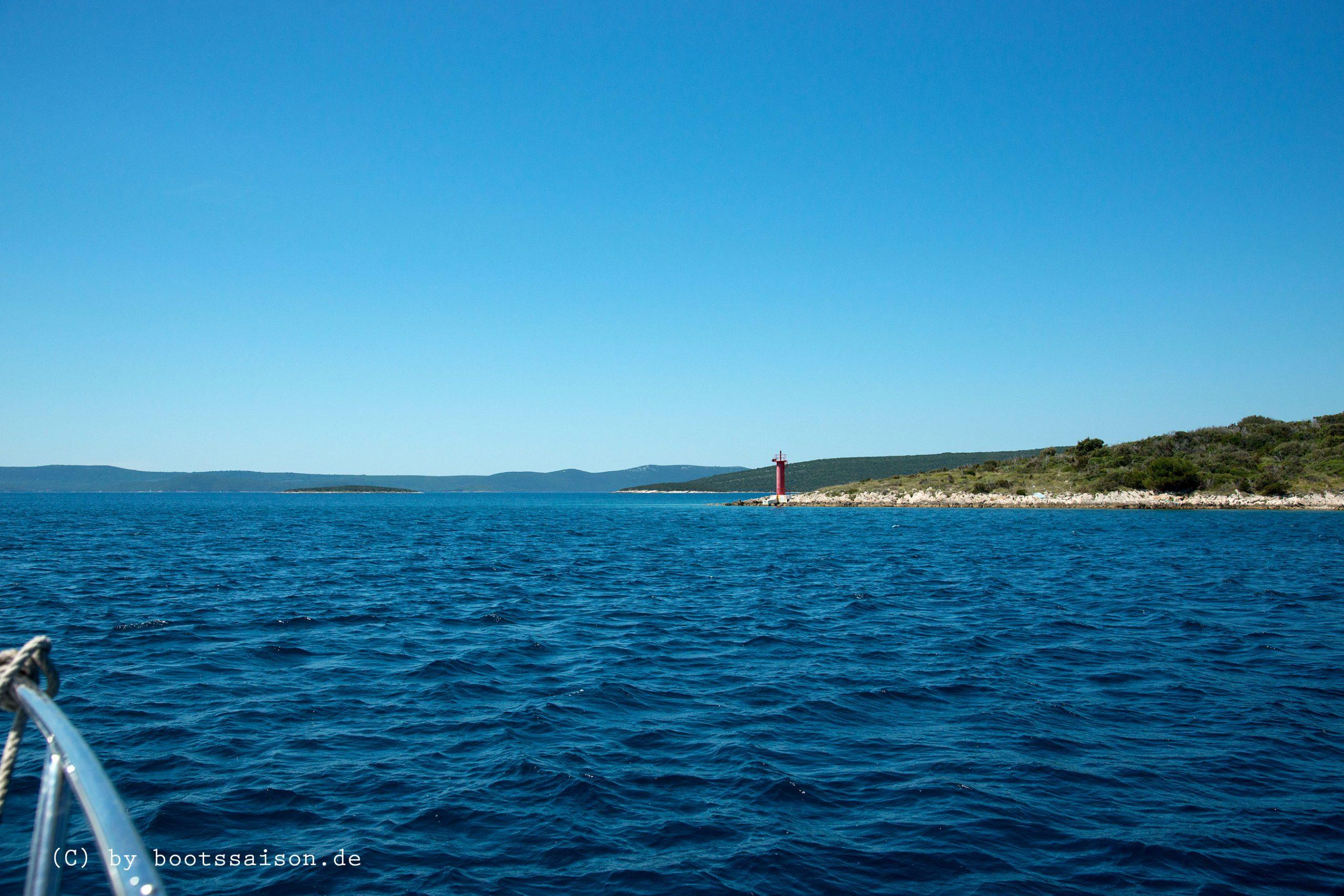 Auf der Adria in Dalmatien, von Zadar nach Molat Veli