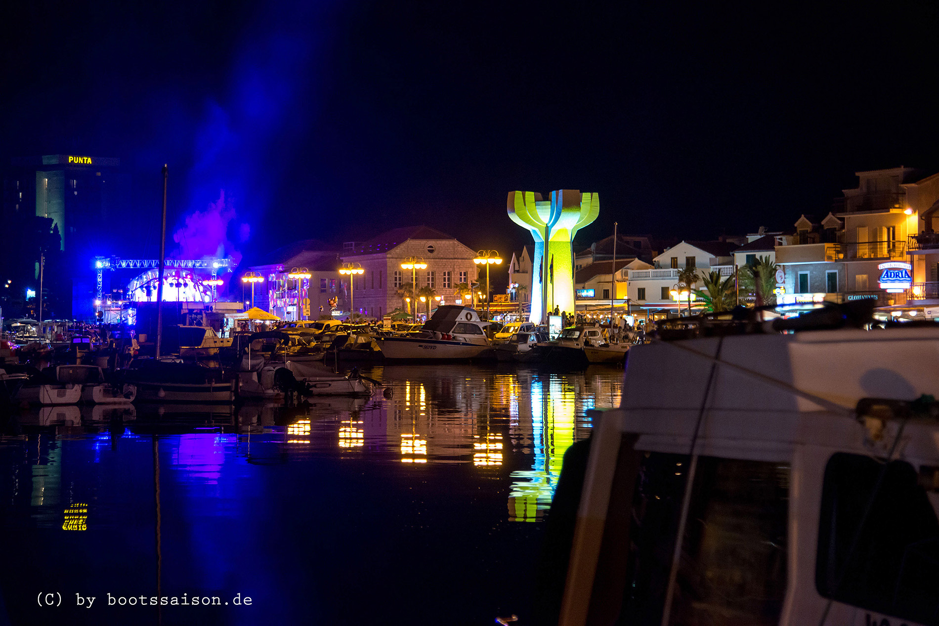 Vodice night view