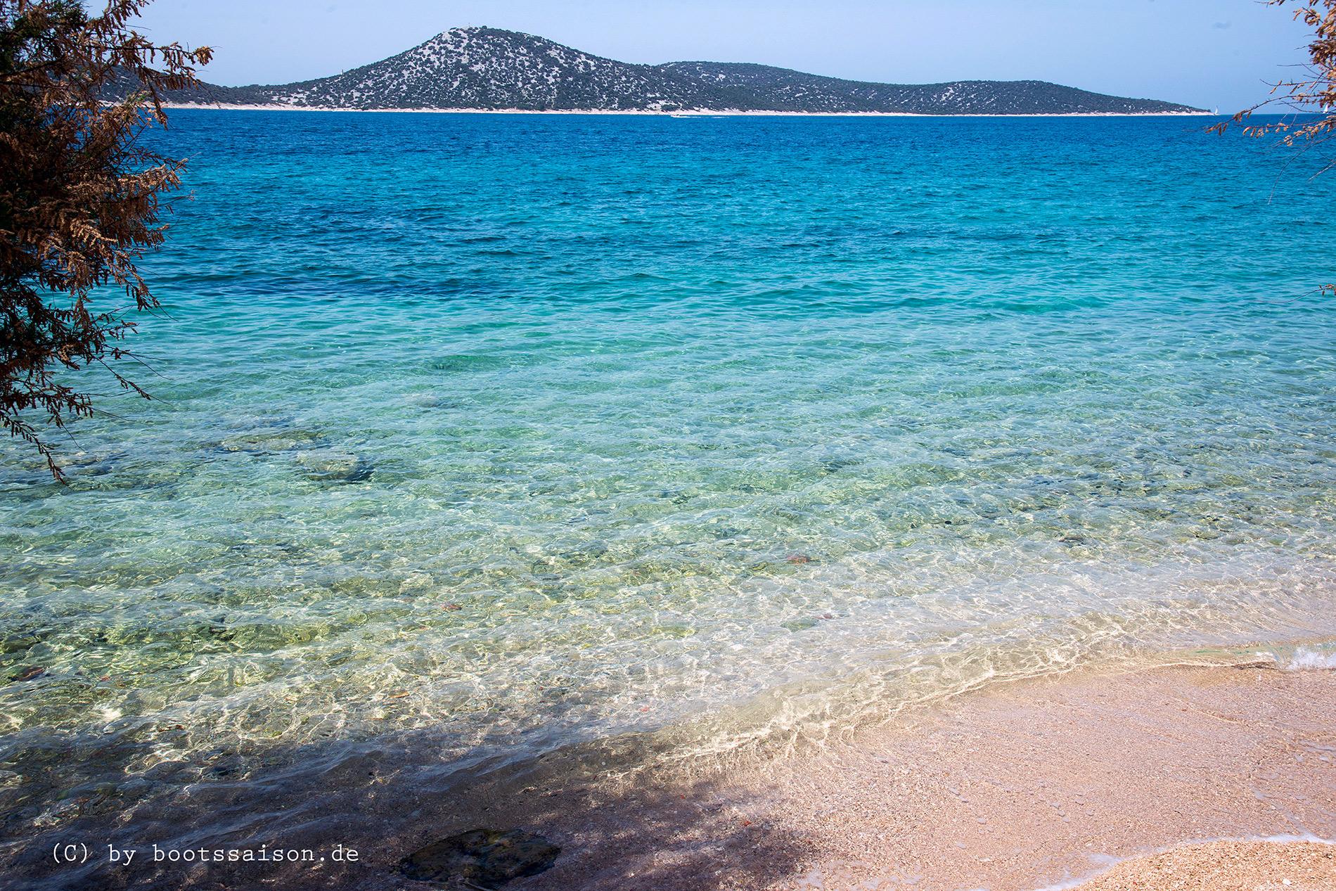 Strand auf der Insel Prvic