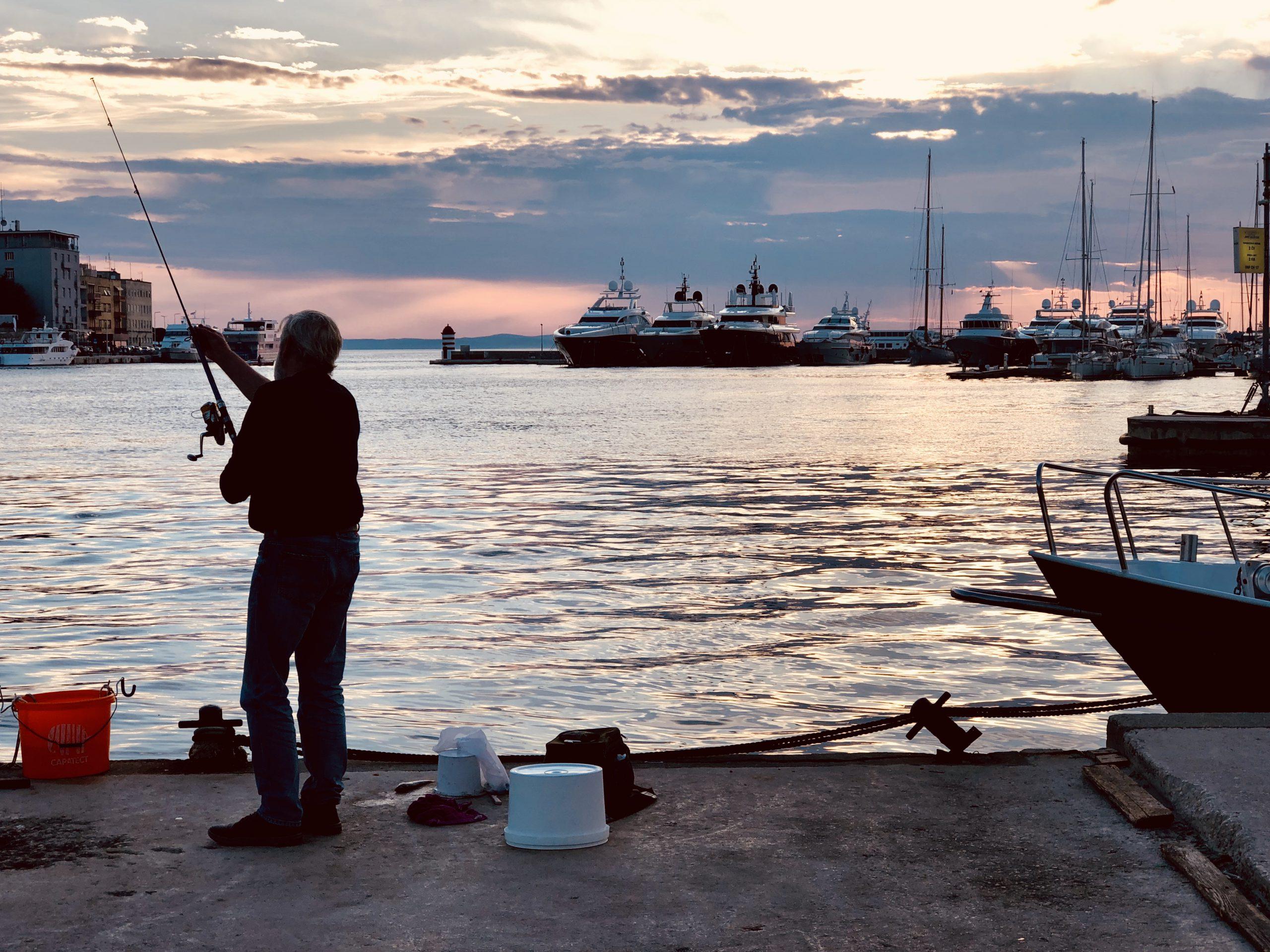 Zadar Hafenpromenade Fischer